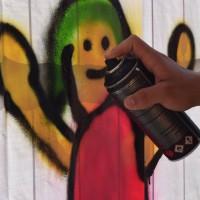 legales Graffiti beim Fest der Demokratie