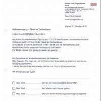 Helloweenparty im Techenhaus-Anmeldung